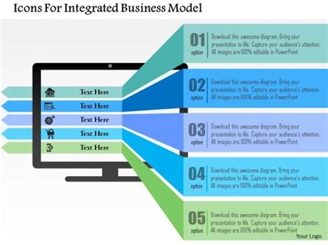 Business Diagram Icons For Integrated Business Model