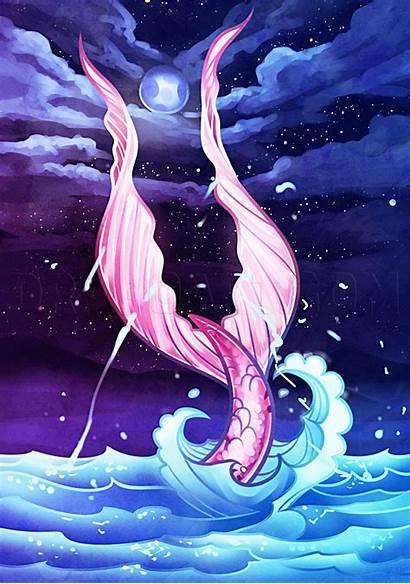 Mermaid Tail Drawing Ocean Dragoart