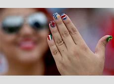 How to do World Cup flag nail art at home Style Life