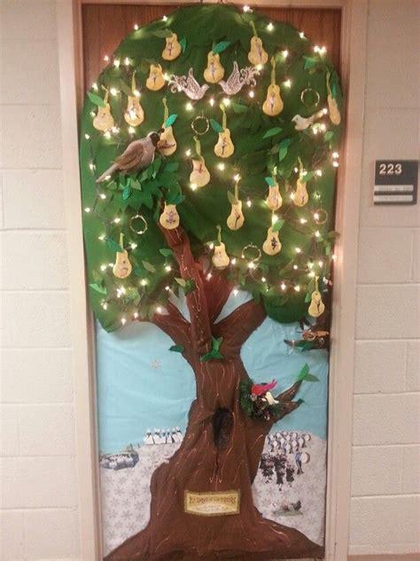 twelve days  christmas door decorations  full door