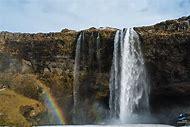 Seljalandsfoss Waterfall Iceland in Winter