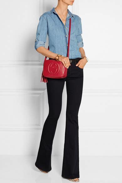 Gucci | Soho Disco textured-leather shoulder bag | NET-A-PORTER.COM