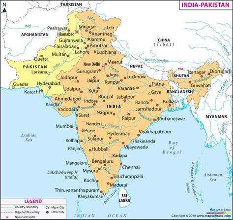 india pakistan map lahore  political map  india hd