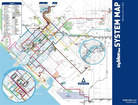 los angeles bus map