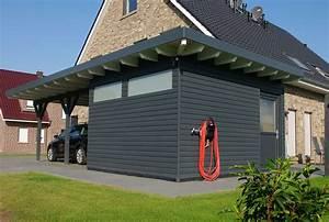 Garage Mit Pultdach : doppelcarport mit ger teraum so muss das ~ Michelbontemps.com Haus und Dekorationen