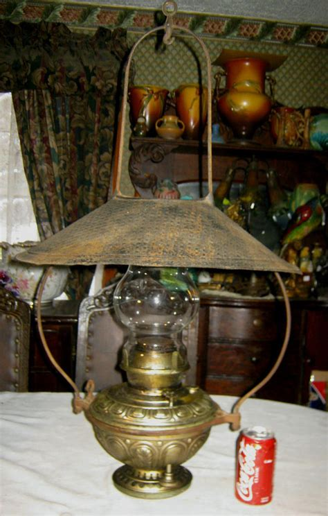 c 1890 ANTIQUE BRADLEY HUBBARD HANGING COUNTRY PORCH OIL ...