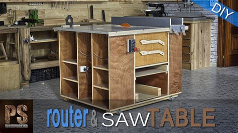 homemade router table table  youtube