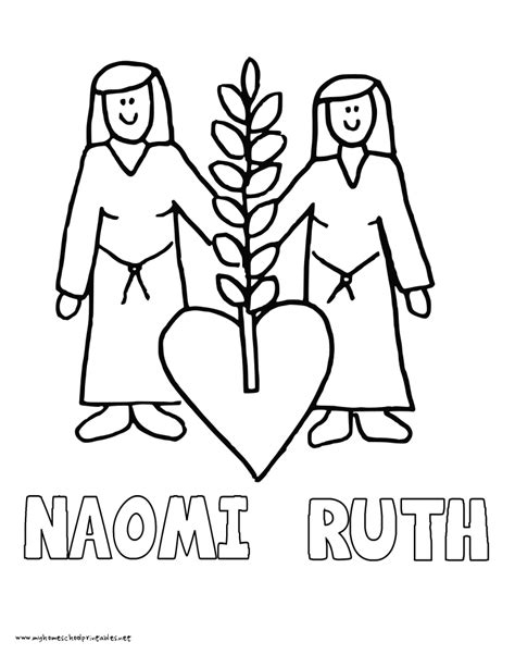 Kleurplaat Ruth by Ruth And Printable Coloring Pages