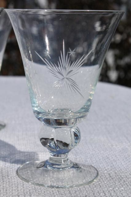 vintage susquehanna crystal wine glasses  water goblets