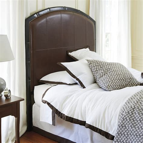 Houzz Headboards by Marena Upholstered Leather Headboard Transitional