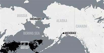 Shishmaref Alaska Map Sandy Island Barrier Petrol