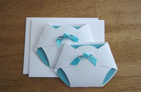 homemade baby shower diaper invitations