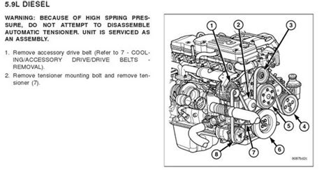 Cummin Belt Diagram by Need A Diagram For A Serpentine Belt For An 04 Dodge