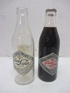 Lot of 2 Vintage Empty Clear Glass Coca-Cola Coke Bottles ...