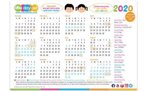 revised academic calendar   singapore schools