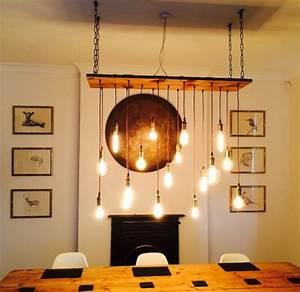 vintage, led, bulb, wood, chandelier, , u2022, id, lights