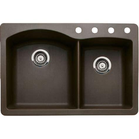 blanco drop in kitchen sinks blanco 440213 silgranit ii drop in 1 3 4 quot bowl sink 7918