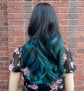 Short Bob in Teal Ombre - Hair Colors Ideas