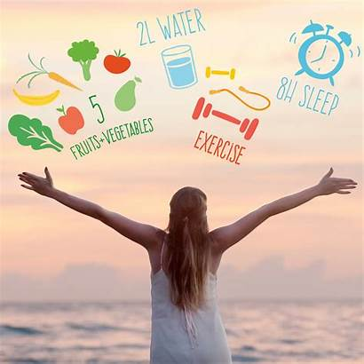 Healthy Lifestyle Tips Habits Eating Vegan Meal