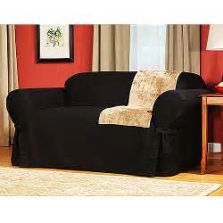 Sectional Sofa Slipcovers Walmart by Mainstays Cotton Duck Sofa Slipcover Walmart Com