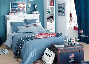 deco chambre ado garcon bleu gris visuel 6 With deco chambre garcon ado