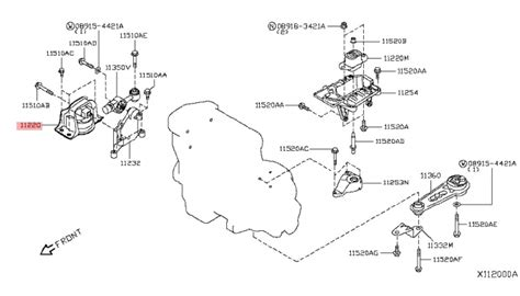 Nissan Cube Engine Diagram by Front Right Engine Motor Mount Nissan Cube Versa 1 8l 2007