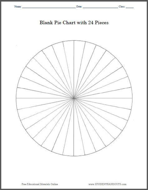 blank pie chart   pieces print worksheet