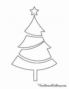Christmas, Tree, Stencil, 01