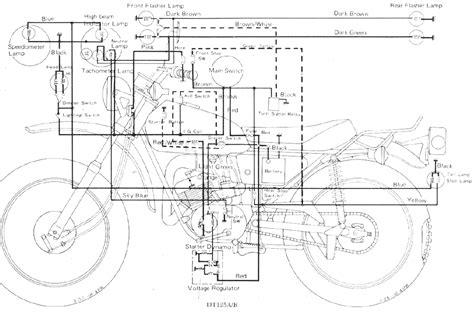 Yamaha Dt 100 Wiring Diagram by Yamaha Dt 125 Ab Enduro Motorcycle Wiring Schematics