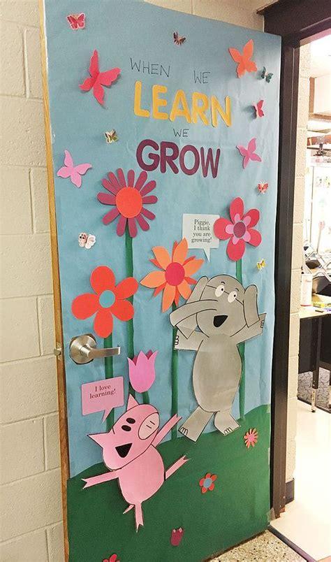 elephant piggie spring class door school hallway