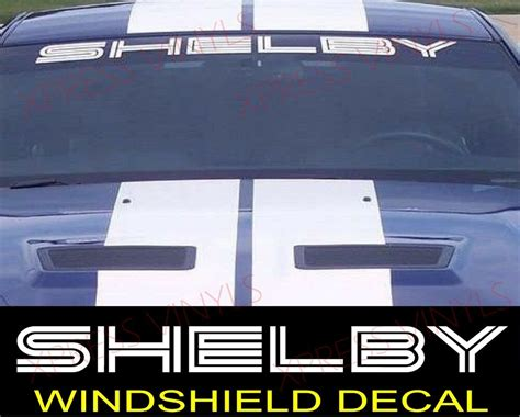shelby ford mustang gt windshield vinyl decal sticker