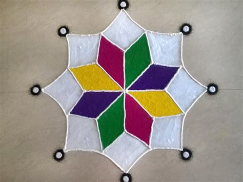easy  simple rangoli design  simple rangoli design
