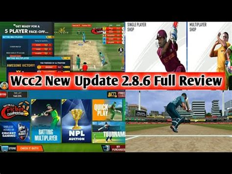 wcc2 new update of batting multiplayer wcc2 new update version 2 8 6 review update
