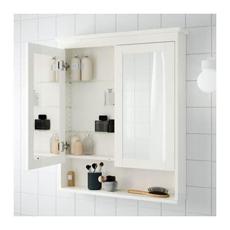 hemnes mirror cabinet with 2 doors white 83x16x98 cm ikea