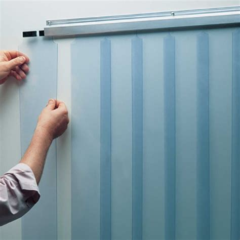 walk in cooler curtains curtain kit 38x84 low temp slide in strips