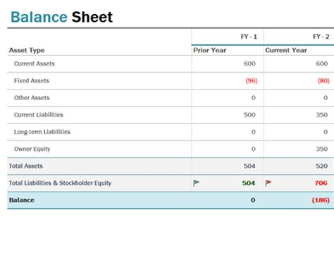 balance sheet office templates