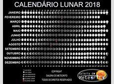Calendário Lunar 2018 fases da Lua 2018 Astral