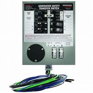 Buy Generac 6376 30 Amp 6 Circuit 125  250v Manual Transfer