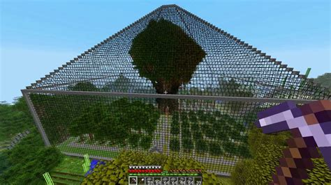 minecraft building  amazing glass pyramid structure youtube
