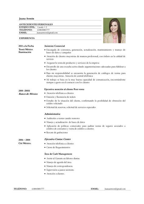 Ejemplo De Curriculum Vitae Basico Mujer Example Good Resume Template