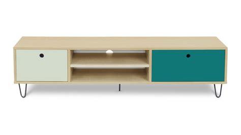 meuble tv jalapa multicolore 2 tiroirs mobilier moss