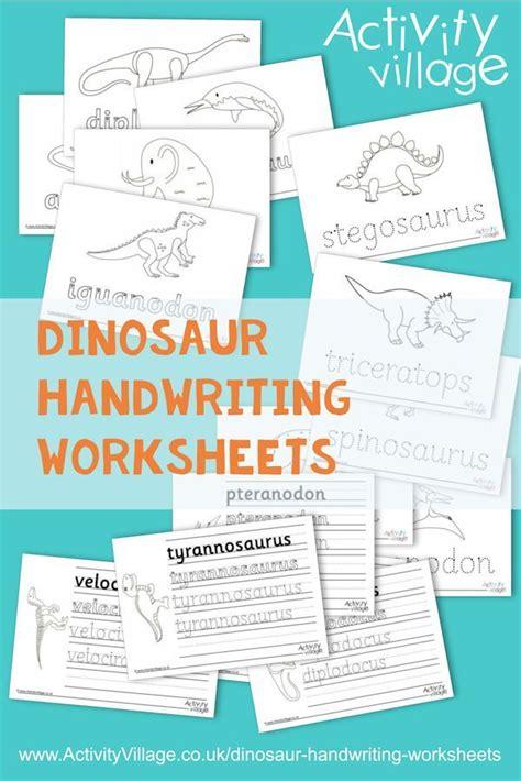 dinosaur handwriting worksheets  images