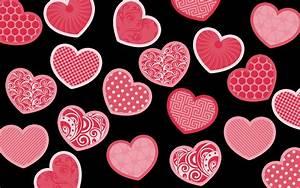 Pink hearts wallpaper #17347