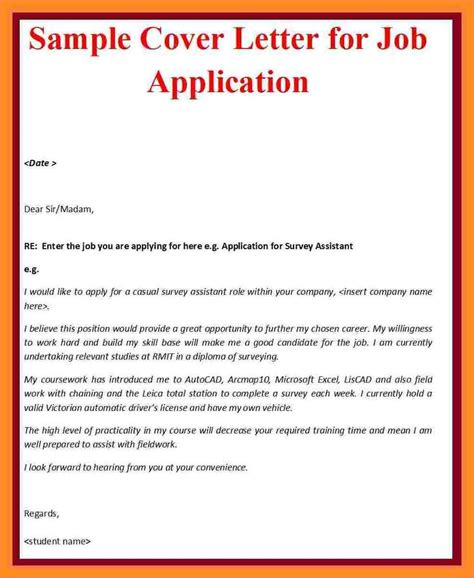 5 how to write application letter for a vacancy