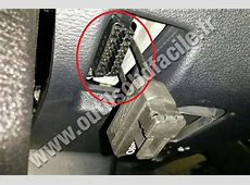 OBD2 connector location in BMW X6 E71 2008 2014
