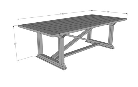 diy dining table plans ana white rekourt dining table diy projects