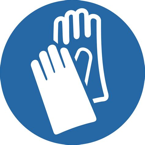 preproomorg mandatory signs wear protective gloves