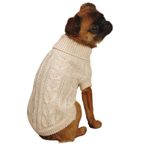 doge sweater lurex cable knit sweater creme brulee at baxterboo