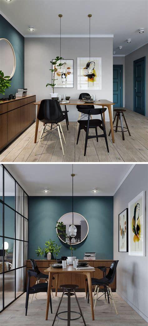mur bleu canard  style loft blog deco mur bleu