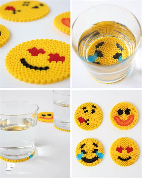 Minecraft Pumpkin Carving Ideas by Emoji Bead Coasters Pysselbolaget Fun Easy Crafts For